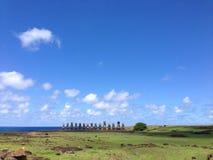 Ahu tongariki moai Zdjęcie Royalty Free
