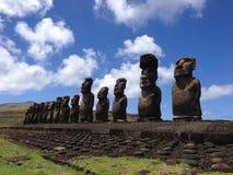 Ahu tongariki moai Obrazy Stock