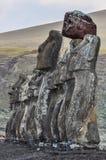 Ahu Tongariki moais w Wielkanocnej wyspie, Chile Fotografia Stock