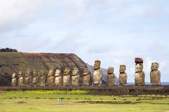 Ahu Tongariki na Wielkanocnej wyspie Obrazy Royalty Free