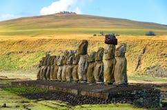 Ahu Tongariki w Wielkanocnej wyspie Obraz Royalty Free