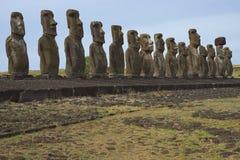 Ahu Tongariki, Wielkanocna wyspa, Chile Zdjęcie Royalty Free