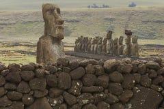 Ahu Tongariki, Wielkanocna wyspa, Chile Zdjęcia Royalty Free