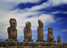 Ahu Vai Uri moai Stock Images