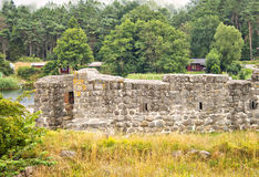 Ahus fort ruin. Image of a fort ruin, in Ahus, Sweden Royalty Free Stock Image