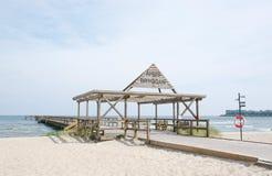 Ahus plaży jetty Obraz Stock