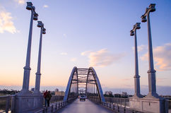 Ahvaz Pole Sefid Bridge. Ahvaz Bridge on Karoon River at Iran Stock Photography