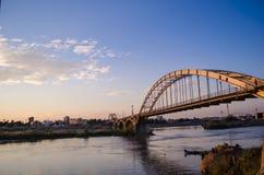 Ahvaz słupa Sefid most Zdjęcie Royalty Free