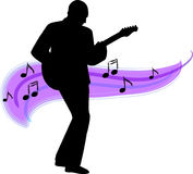 ai吉他演奏员 皇族释放例证