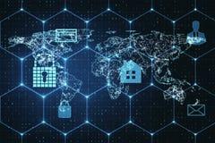 AI和安全概念 皇族释放例证