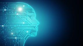 AI和硬件概念 库存例证