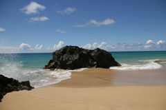 ai海滩hanakapi夏威夷考艾岛 免版税库存照片