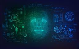 AI面孔 向量例证