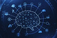 AI и innovate концепция иллюстрация штока