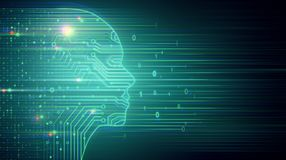 AI и вычисляя концепция иллюстрация штока