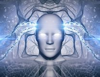 AI Artificial Intelligence Abstract Concept. Is a great background image Stock Images