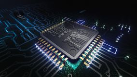 Free AI Artificial Intelligence Concept Central Computer Processors CPU Concept, 3d Rendering, Circuit Board, Technology Background, Royalty Free Stock Photos - 160508848
