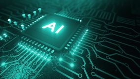 Free AI Artificial Intelligence Concept Central Computer Processors CPU Concept, 3d Rendering, Circuit Board, Technology Background, Stock Image - 160509081