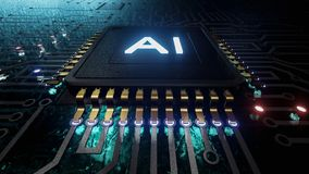 Free AI Artificial Intelligence Concept Central Computer Processors CPU Concept, 3d Rendering, Circuit Board, Technology Background, Royalty Free Stock Images - 160509159