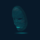 AI. Artificial Intelligence. Future Technology of computer, virtual of robot face, Face Scanning, View of Human Head Stock Photography