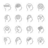 AI artificial intelligence icon set. Editable Stroke. EPS 10 Royalty Free Stock Image