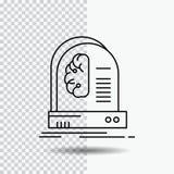 Ai, cérebro, futuro, inteligência, linha ícone da máquina no fundo transparente Ilustra??o preta do vetor do ?cone ilustração stock