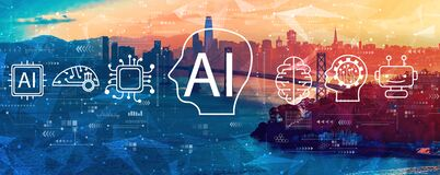 Free AI Concept With The Bay Bridge In San Francisco Stock Photography - 207383842