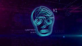 AI - concepto abstracto de la inteligencia artificial ilustración del vector
