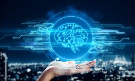 AI e conceito do Cyberspace fotos de stock