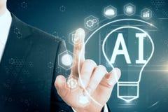 AI en innovatieconcept Stock Foto's