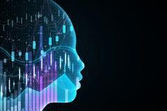AI en voorraadconcept royalty-vrije illustratie