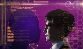 AI et concept de codage image stock