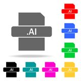 Ai file icon. Elements in multi colored icons for mobile concept and web apps. Icons for website design and development, app devel. Opment on white background Stock Photo