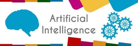AI - Fond abstrait coloré d'intelligence artificielle illustration stock