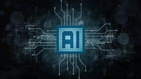 AI - Fond d'intelligence artificielle - concept abstrait de technologie et d'automation de cyber