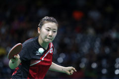 Ai Fukuhara at the Olympic Games 2016. Third place women team Finale Japan beat Singapore 3.1.Olympic Games. Rio Centro 3.Rio de Janeiro Stock Photo