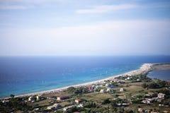 Ai Giannis plaża przy Lefkada (Gyra) Fotografia Royalty Free