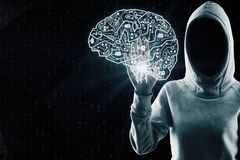 AI i phishing pojęcie fotografia stock
