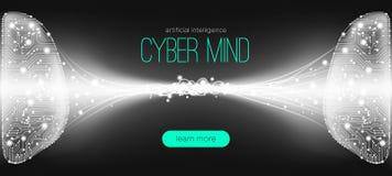 Artificial Intelligence Innovation, Cyber Mind. stock illustration