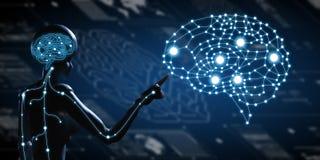 AI, inteligencia artificial conceptual de techno de la siguiente generación stock de ilustración