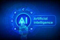 AI Intelligence artificielle Apprentissage automatique, grande technologie d'analyse de donn?es et d'automation dans les affaires
