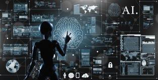 AI, intelligence artificielle conceptuelle de la techno de prochaine génération Images stock