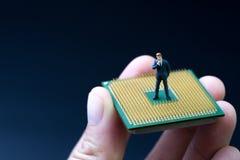 AI konstgjord intelligens, begrepp för lära för maskin, miniatyr fotografering för bildbyråer
