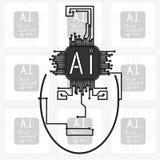 AI - kunstmatige intelligentie Stock Afbeelding