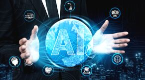 Free AI Learning And Artificial Intelligence Concept Royalty Free Stock Image - 172035836