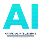 AI Letter Artificial Intelligence with binary code. Vector illustration. vector illustration