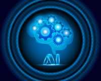 AI Letter Digital Artificial intelligence and big data Machine royalty free illustration