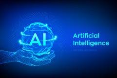 AI Logo d'intelligence artificielle ? disposition Concept d'intelligence artificielle et d'apprentissage automatique Vague de gri