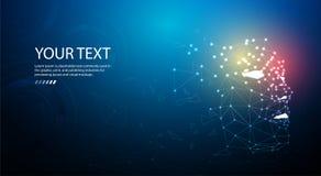 Ai lub Sztuczna inteligencja Technologii sieci tło Wirtualny pojęcie ilustracji