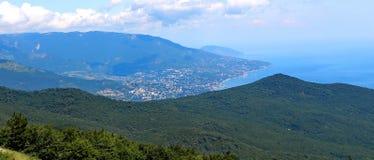 ai miasta halny Petri widok Yalta Zdjęcie Stock